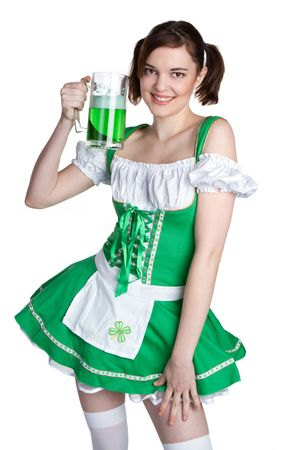 Irish Beer Girl Stock Photo - 6385125