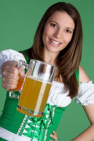 Irish Woman Holding Beer Stock Photo - 6419251