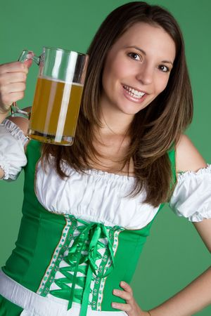 Sexy Irish Beer Girl Stock Photo - 6419252
