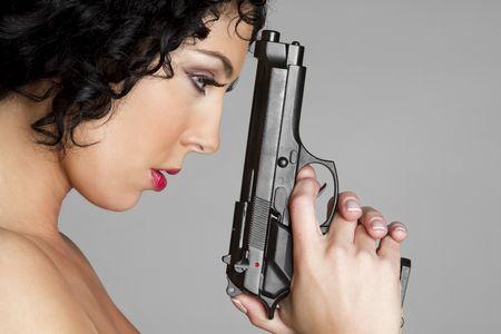Girl With Gun Stock Photo - 6419255