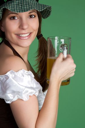 Happy Beer Girl Stock Photo - 6419265