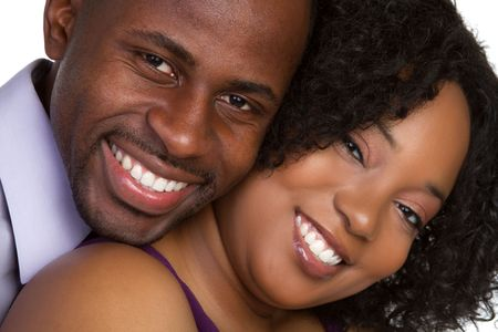 african american male: Smiling Couple LANG_EVOIMAGES