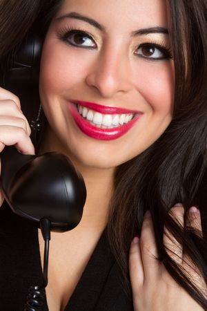 Latina Woman on Phone Stock Photo - 6469248
