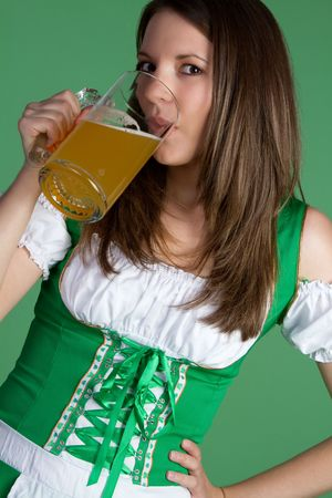 Irish Woman Drinking Beer Stock Photo - 6419287