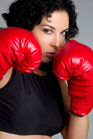 Boxing Girl Stock Photo - 6419280
