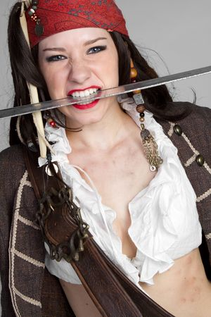 Pirate With Sword Stock Photo - 6419284