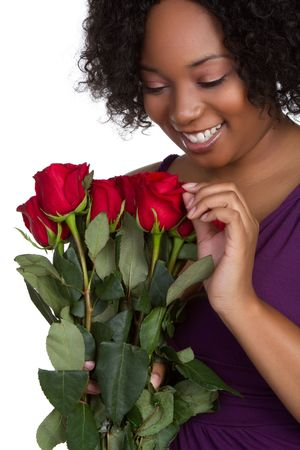 Girl With Roses Stock Photo - 6419300