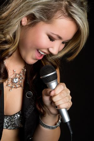 Latina Singing Stock Photo - 6419304
