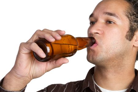 Man Drinking Beer Stock Photo - 6419291