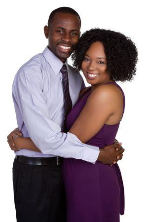 black couple: Young Black Couple