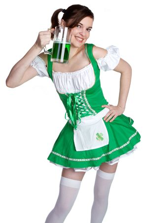 Beer Girl Smiling Stock Photo - 6455984