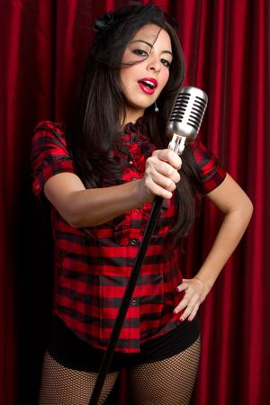 Woman Singing Stock Photo - 6469254