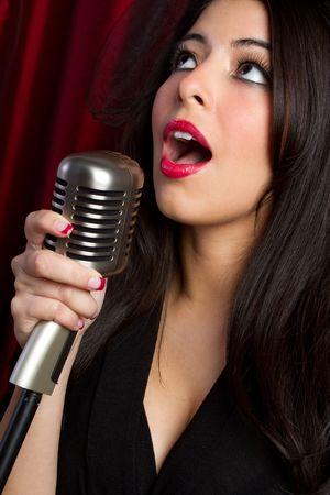 Retro Woman zingen