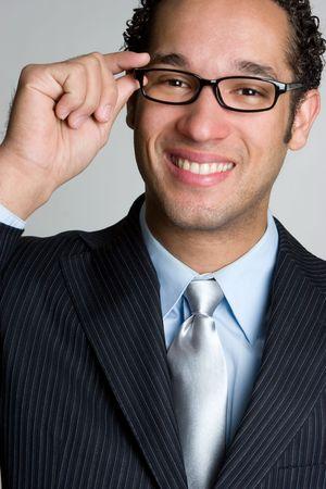 black rimmed: Smiling Businessman