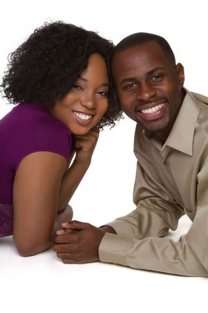 married woman: Smiling Black Couple