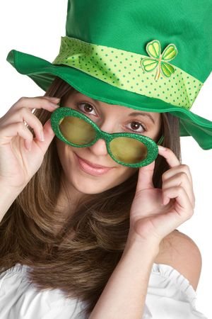 Playful St Patricks Girl Stock Photo - 6494792