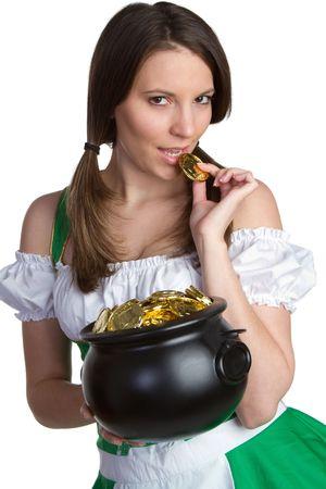 Sexy St Patricks Day Girl Stock Photo - 6494799