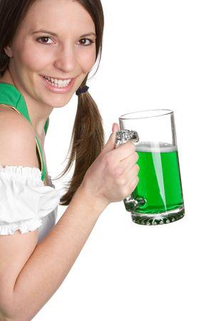 saint patricks day: St Patricks Beer Woman