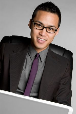 Asian Computer Businessman Stock Photo - 6494806