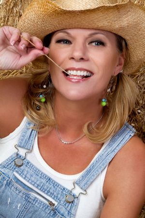 Smiling Country Woman Stock Photo - 6501360