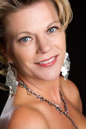 edad media: Antig�edad de media hermosa mujer