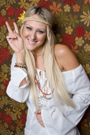 Hippie Girl Stock Photo - 6501357