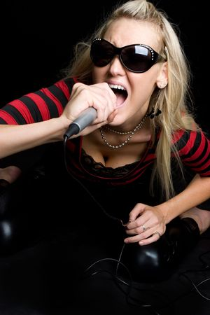 kareoke: Woman Singing
