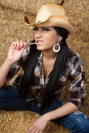 Country Teen in Barn Stock Photo - 6521193
