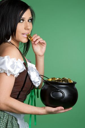Pot of Gold Woman Stock Photo - 6521191