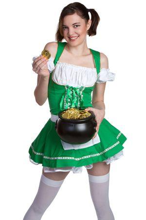 irish woman: Smiling St Patricks Girl
