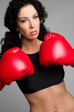 Boxing Woman Stock Photo - 6581033
