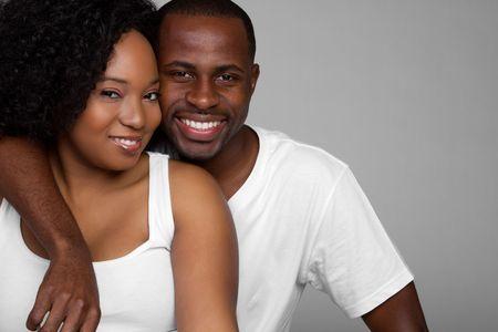 Black Couple Smiling photo