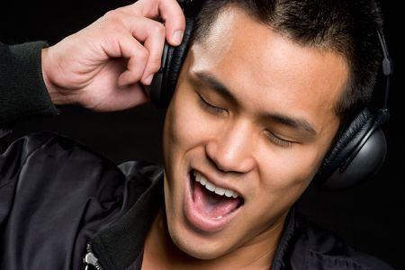 Singing Asian Man Stock Photo - 6546289