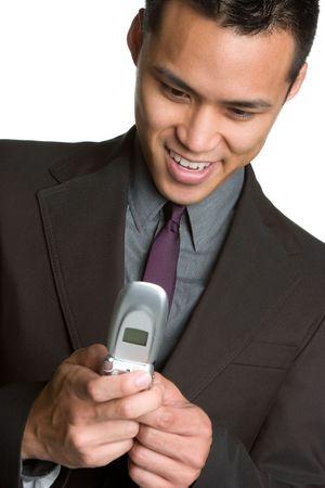 Asian Businessman Texting Stock Photo - 6546291