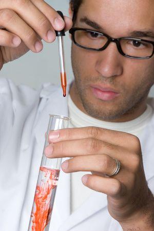 Wetenschapper doen experiment  Stockfoto