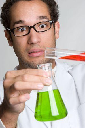 Bang Scientist  Stockfoto