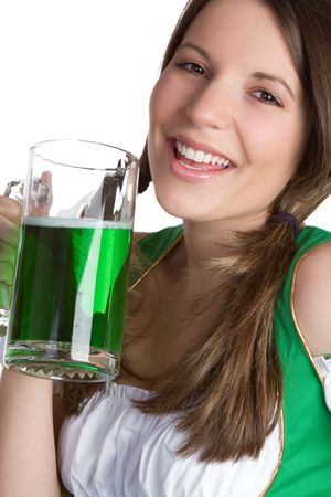 Laughing Beer Girl Stock Photo - 6546300