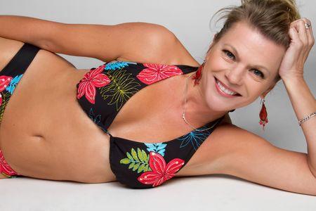 Middle Aged Bikini Woman Stock Photo - 6546301