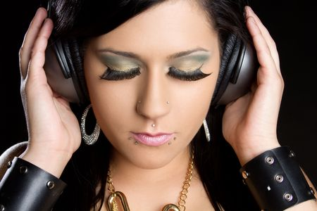 Teen Girl Listening to Music Stock Photo - 6581039