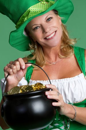 Saint Patricks Day Woman Stock Photo - 6581040