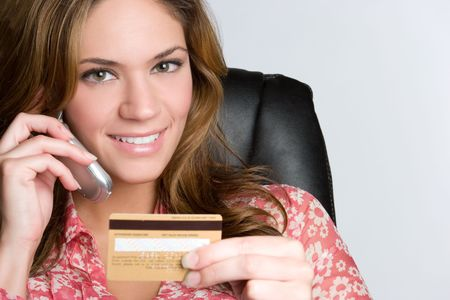 Credit Card Phone Woman Stock Photo - 6581048