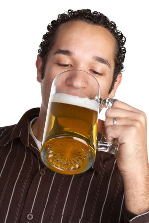 Man Drinking Beer Stock Photo - 6581067
