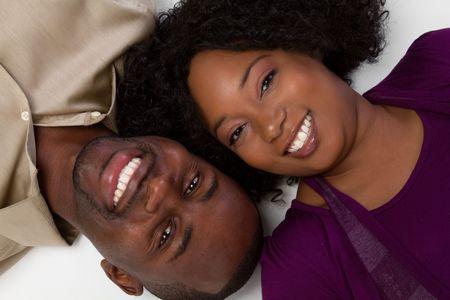 Smiling Black Couple photo