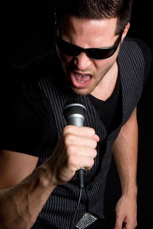 kareoke: Man Singing