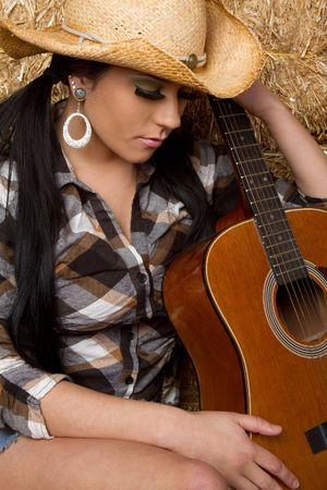Country Guitar Girl Stock Photo - 6609511
