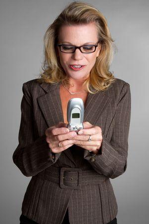 Businesswoman Texting Stock Photo - 6615681