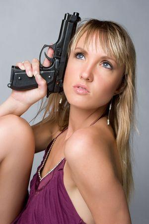 Woman With Gun Stock Photo - 6639619