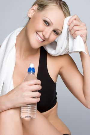 Smiling Water Bottle Girl photo
