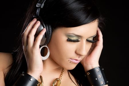 Headphones Girl Stock Photo - 6639627