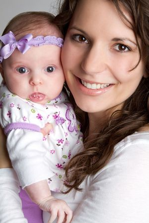 Mother Holding Daughter Stock Photo - 6639630